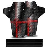 YOLOKE Parafango MTB,Compatibile Anteriore o Posteriore Parafanghi Bici MTB 26', 27,5', 29' paraspruzzi Mountain Bike(Rosso)