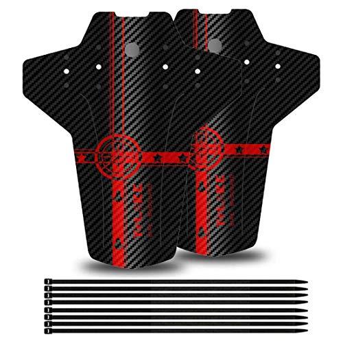 YOLOKE Fahrrad schutzblech. MTB Schutzblech. Vorne Hinten Mountainbike Spritzschutz Fahrrad Mud Guard.passend für 26