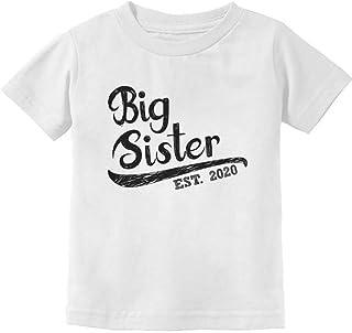 Girls Big Sister Est 2020 Sibling Gifts Infant Kids T-Shirt