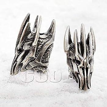 CooB EDC Paracord Bead Beads Charm Beard Bead Sauron Helmet Metal Hand Made Paracord Lanyard Beads Charms for Knife Lanyard Accessories Beard Beads 1Pcs/Lot Sauron