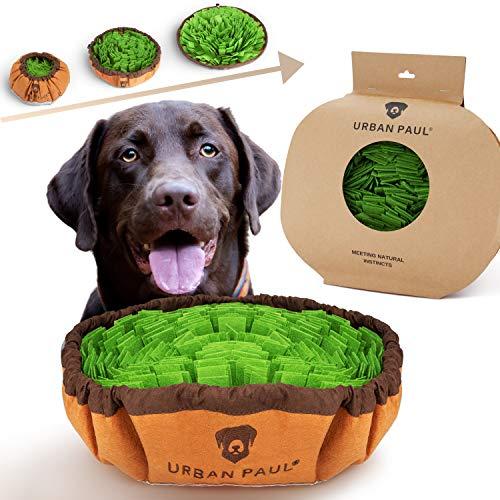 URBAN PAUL® Schnüffelteppich Hund - NEU - hochwertiges Hundespielzeug von deutschem Unternehmen - Intelligenzspielzeug für Hunde - größenverstellbar und waschbar