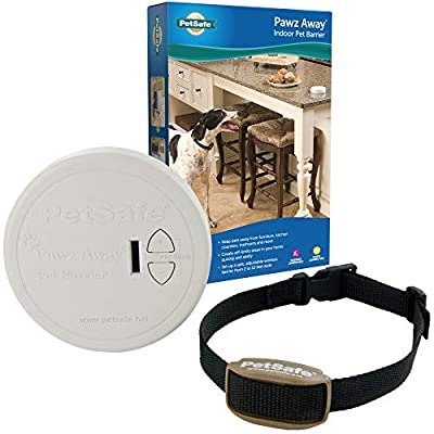 PetSafe Pawz Away Indoor Pet Barrier with Adjustable Range – Dog and Cat Home Proofing – Static Correction – Wireless Pet Gate Keeps Areas Off Limits – Battery-Operated – For Pets 5 lbs. and Up from Radio Systems Corporation