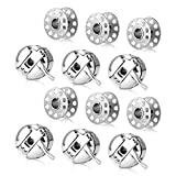 Magicfour Bobbin Case, 6 Pack Stainless Steel Sewing Machine Bobbin Case and 6 Pack Sewing Machine Bobbins Sewing Machine Accessories Part for Front Loading 15 Class Machines