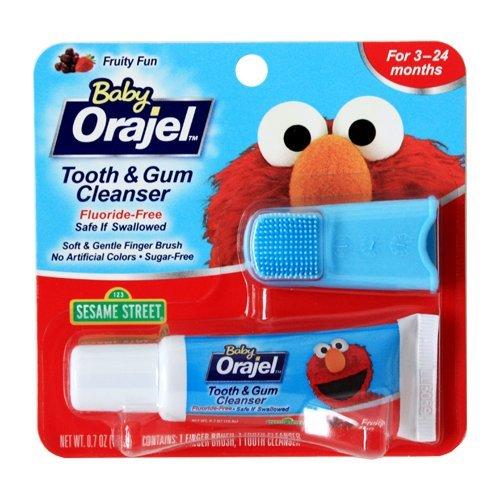 Baby Orajel Fluoride-Free Toothpaste - Fruit (.7 Oz.) (Pack of 6)