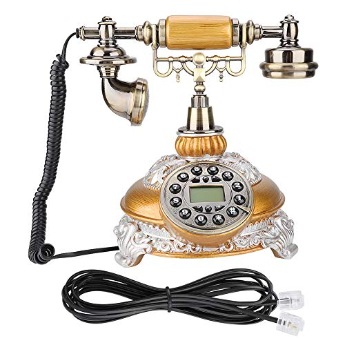 YUN Teléfono UE Estilo Retro Teléfono Fijo Teléfono De Escritorio Oficina En Casa MS-8327B