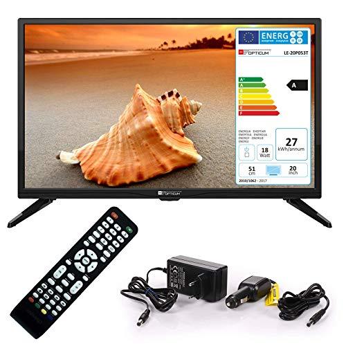 Opticum Travel 51 cm (20 Zoll) Fernseher (DVB-S2, DVB-T2, DVB-C)