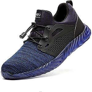 516tZz0gAiL. SS300  - Zapatos de Seguridad para Hombres ultraligeros Zapatos de Acero con Punta de Seguridad, Zapatillas industriales Transpirables y cómodas