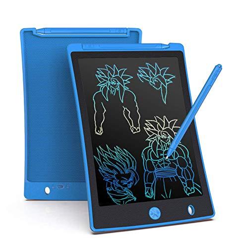 Arolun Tableta de Escritura LCD 8.5 Inch Colorida, LCD Tablero de Dibujo Gráfica Pizarra Magica de Mensaje Memo Pad Electrónico con Lápiz Regalos para Niños,Clase,Oficina,Casa,Cocina (Azul)