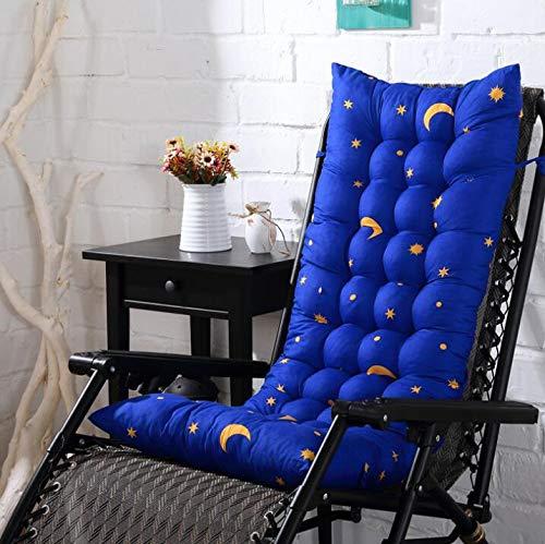 Marbeine Matelas Coussins pour Chaise Longue, Coussin de Chaise Coussin Mat pour Chaise Fauteuil de Relax Transat de Jardin Terrasse 48 * 125 * 8cm (Bleu Dessin)