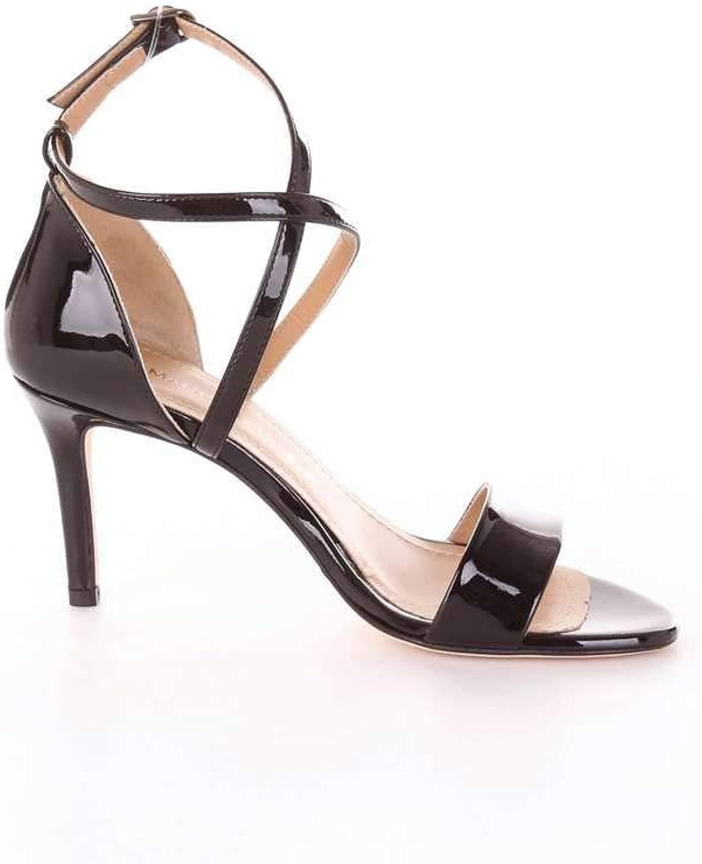MARC ELLIS Women's MA3009BLACK Black Leather Sandals