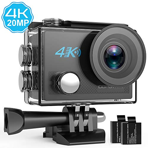 DBPOWER 4K Action Camera 20MP Ultra HD EIS WIFI Action Cam, 30M /...