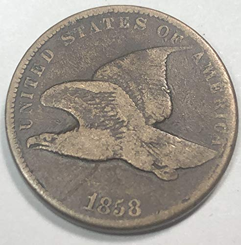 1858 P Flying Eagle ((Small Letters)) Penny Cent Very Good