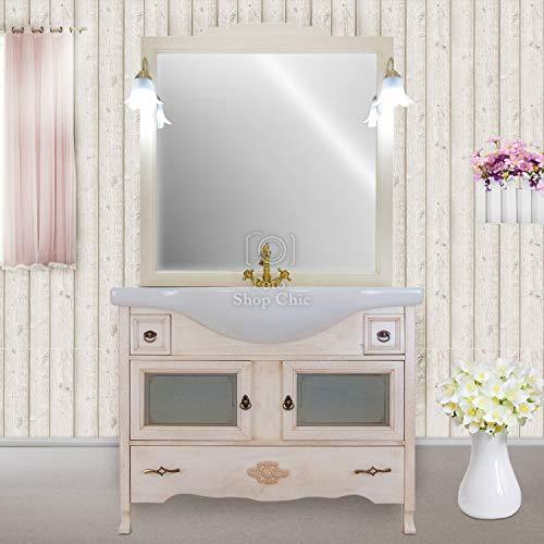 Shop Chic Mobile da Bagno Classico Moderno con lavabo in caramica con Ante in Vetro