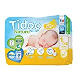 Couches Écologiques Night & Day   T1/XS   Newborn 2-5 kg   26 Couches   Tidoo