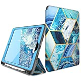 i-Blason Cosmo Case for iPad Air 3 Case 10.5' 2019 (3rd Gen) / iPad Pro 10.5 Case 2017, [Built-in Screen Protector] Trifold Stand Protective Case Cover with Pencil Holder and Auto Sleep/Wake, Blue