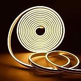 CJFHBVUQ Barra de luz extruida de Silicona, 2 Barra de luz de Deslizamiento súper Impermeable IP68 lámpara Plana lámpara de neón lámpara de Barra de luz de Seta, Luces led Exterior