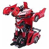 1:12 RC Automóviles Deformation Autobots 2.4G Un Toque Transformación Recargable Vehículos Deportivos Control Remoto Racing Cars Mini Juguetes imaginativo Juego para niños Bebé Regalo 3+ años de Edad