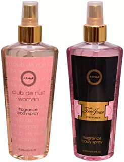 Armaf CLUB DE NUIT & TRES POUR FEMME Body Mist For Women - 500 ml (Pack of 2)