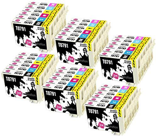 INK INSPIRATION® Ersatz für Epson T0791-T0796 Druckerpatronen 36er-Pack, kompatibel mit Epson Stylus Photo 1500W 1400 P50 PX720WD PX700W PX800FW PX810FW PX820FWD PX830FWD PX650 PX660 PX710W PX730WD