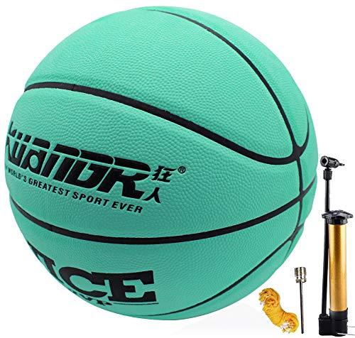 Senston Balón de Baloncesto Talla 7, Cuero PU Balon Baloncesto para Hombres, Interior Al Aire Libre Balon Baloncesto