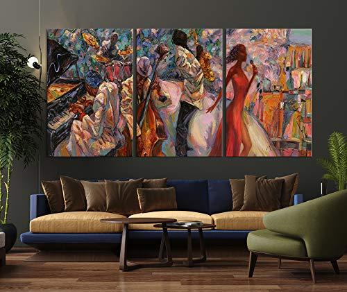 Abstract Jazz Art | African American Art | Jazz Artwork | Extra Large Canvas Wall Art | Framed Print | Contemporary Art | Music Room Decor