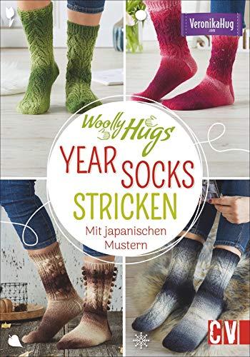 Woolly Hugs YEAR-Socks stricken. Mit japanischen Mustern. 24 verschiedene Socken, ein Sockenstrick-Grundkurs und detailierte Strickschriften verhelfen zum Sockenglück.