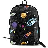 XCNGG Mochila de impresión de fotograma Completo para Adultos Mochila Informal Mochila Mochila Escolar Lightweight Durable Backpack Daypack for School Travel Hiking, Space Astronaut Cool