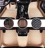Youthus Alfombrillas De Coche Personalizadas Alfombras De Pie para Mercedes Benz SLK 2001-2009 Cobertura Completa Impermeable Antideslizante Alfombra de Cuero Beige