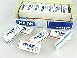 Caja 20 Gomas Nata MILAN 620 Biselada rebite Sandwich Color Blanco