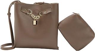 Baoblaze PU Leather Purse Women Shoulder Bag Crossbody Satchel Ladies Tote Travel Purse