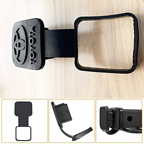 with Ring fit Toyota Trailer Hitch Tube Cover Plug Cap,Rubber Receiver Tube Hitch Plug,Trailer Hitch Cover Tow Hitch Cover