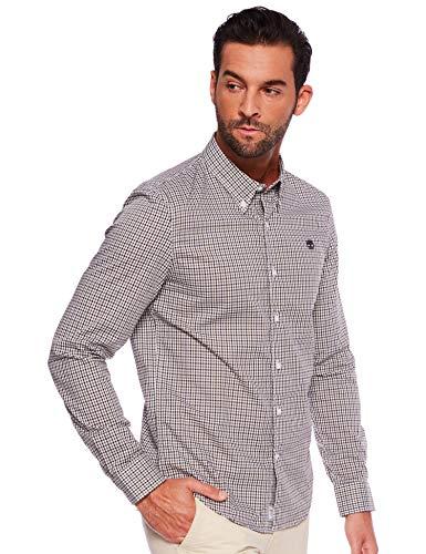 Timberland M Long-Sleeve Suncook River Slim Shirt Kariert-Grün, Herren Hemd, Größe XL - Farbe Martini Olive YD