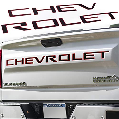 HACHISHOP 3M Adhesive Tailgate Raised Letters Compatible with 3D Raised Chevy 2019 2020 Silverado...