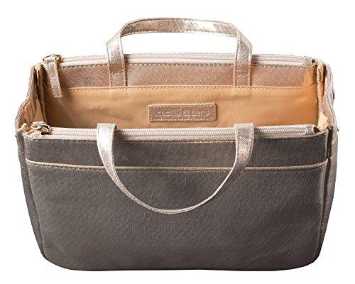 cecilia&bens Handtaschen-Organizer | Bag in Bag | Taschen-Einsatz, Hell, 27 x 20 x 10