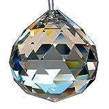 HAB & GUT -G701-50- Bola de cristal, talla triangular, Cristal de plomo, diámetro 50 mm