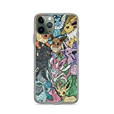 Phone Case Po-ke-mon The Eeveelutions Stained Glass Compatible with iPhone 12/12 Pro Max 11 Pro max XR SE 2020/7/8 X/Xs 7 8 6 Plus Samsung Galaxy S20 S21 Ultra