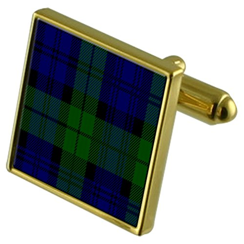 Select Gifts Boutons de manchette or tartan Black Watch