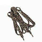 MoonyLI Dünne Flache Schnürsenkel mit Leopardenmuster Bedruckte Schnürsenkel Schnürsenkel Schnürsenkel für Turnschuhe Tarnung Schnürsenkel Schuhschnur 2 Paar