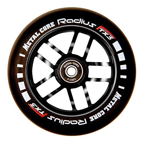 Metal Core Rueda Radius para Scooter Freestyle, Diámetro 110 mm (Negro)