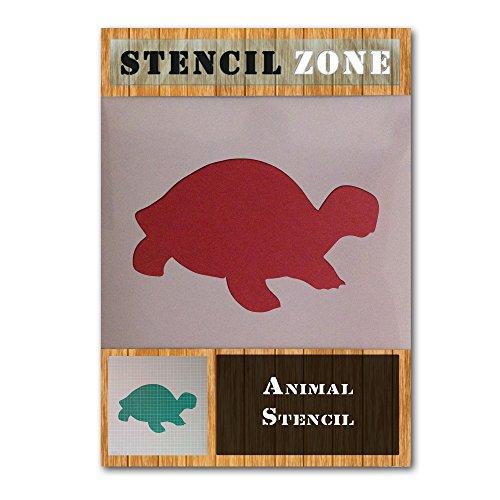 La tortuga de mar animales artesanías reptil mylar pared de la pintura con aerógrafo stencil cinco (A3 Tamaño de la plantilla - Media)