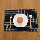 ZCHPDD Tovaglietta Sottobicchiere Panno Moderno Semplice Tessuto Tappetino Tavolino Tappetino Tovaglietta Occidentale A 45 * 32 Cm * 6 Pezzi