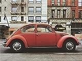 AFHK Rompecabezas 1000 Piezas de Rompecabezas de Madera Rompecabezas y Rompecabezas Accesorios de Rompecabezas DIY Adulto clásico Escarabajo Rojo Volkswagen Rompecabezas de Madera Arte Moderno Regal