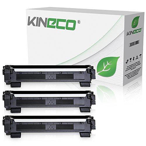 Kineco 3 Toner kompatibel für Brother TN1050 TN-1050 für Brother DCP-1512, HL-1112, DCP-1510, HL-1110 R, MFC-1810, MFC-1815 - Schwarz je 1.500 Seiten