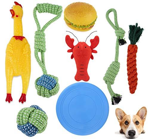 8 Pezzi Giochi per Cani Indistruttibile,Set Giochi Cane,Giochi da Masticare per Cani,Giochi Cane Corda per Cuccioli,Cani di Taglia Media e Grande