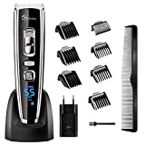 Hair Clippers Cordless Electric Beard Trimmer for Men Rechargeable Haircut Kit Body Grooming