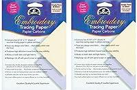 DMC U1541 Embroidery Tracing Paper, Yellow/Blue, 4-Sheets (2 Pack) [並行輸入品]