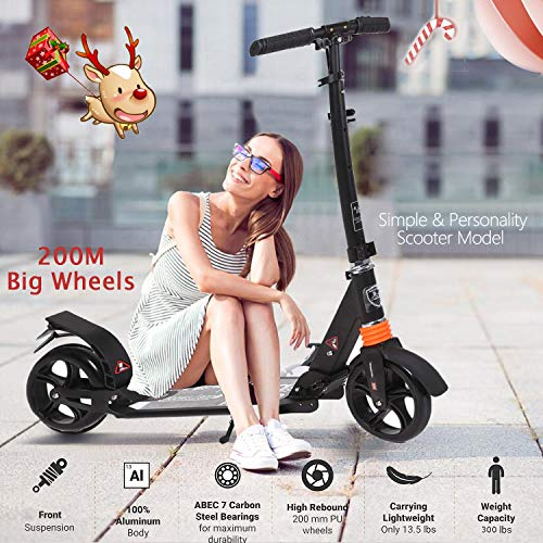 For Sale! kids/Adult Scooter with 3 Seconds Easy-Folding System, 220lb Folding Adjustable Scooter wi...