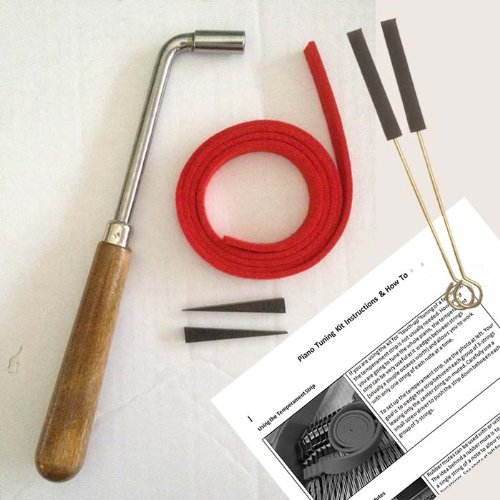 Piano Tuning Hammer and Mute Kit - Piano Tuning Supplies Kit - Gooseneck Tuning Lever