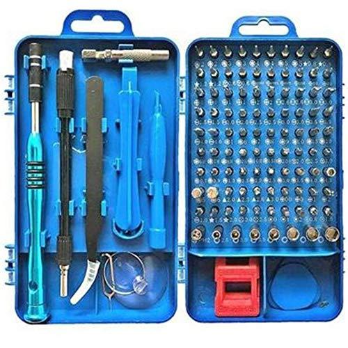 WOIA Juego de Destornilladores Destornillador magnético bit Torx Multi Reparación de teléfonos móviles, Azul