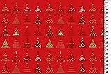 Stoffbook ROT WEIHNACHTSSTOFF Baumwolle Weihnachten